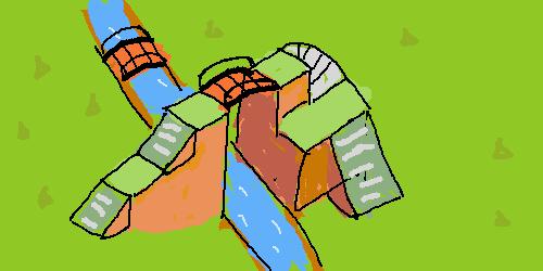 橋 に あつ 斜め 森